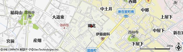 愛知県西尾市国森町(郷北)周辺の地図