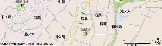 愛知県豊川市金沢町(宮北)周辺の地図