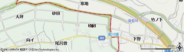 愛知県西尾市平原町(砂田)周辺の地図