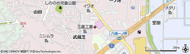 京都府八幡市八幡(御幸谷)周辺の地図