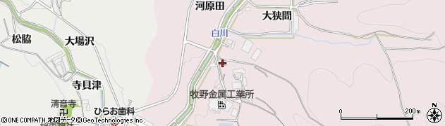 愛知県豊川市財賀町(コウデ)周辺の地図