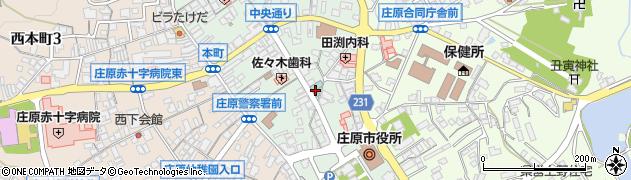 広島県庄原市中本町周辺の地図