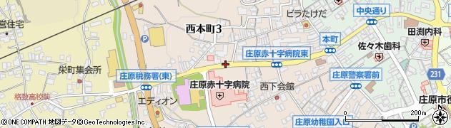 広島県庄原市西本町周辺の地図