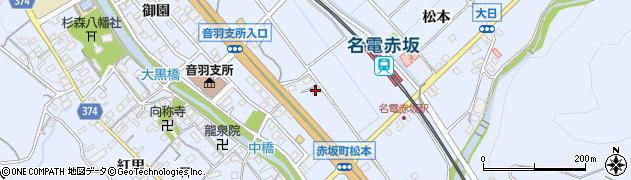 愛知県豊川市赤坂町(松本)周辺の地図