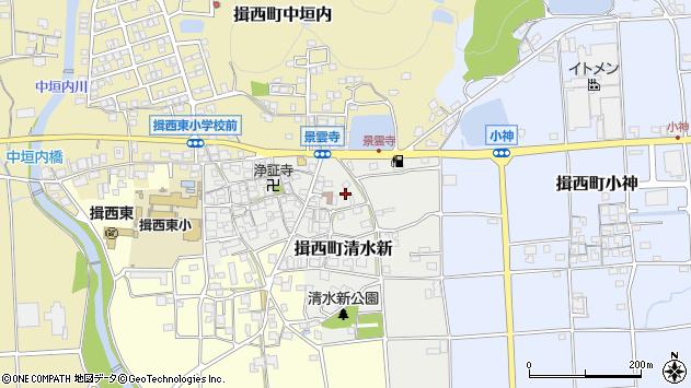 〒679-4004 兵庫県たつの市揖西町清水新の地図