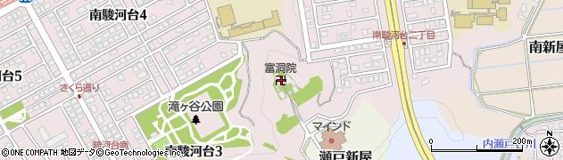富洞院周辺の地図