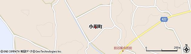 広島県庄原市小用町周辺の地図