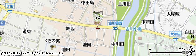 愛知県西尾市寄近町(城崎)周辺の地図