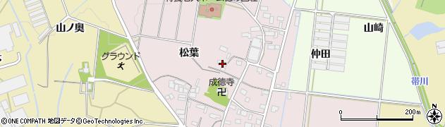 愛知県豊川市西原町(松葉)周辺の地図