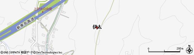 静岡県島田市伊太周辺の地図
