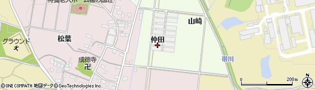 愛知県豊川市足山田町(仲田)周辺の地図