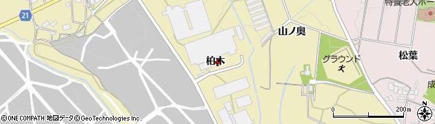 愛知県豊川市大木町(柏木)周辺の地図