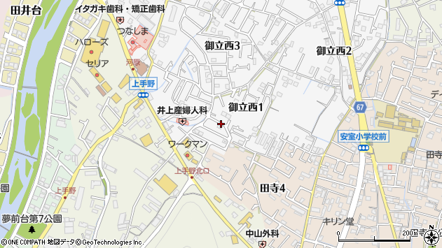 〒670-0074 兵庫県姫路市御立西の地図