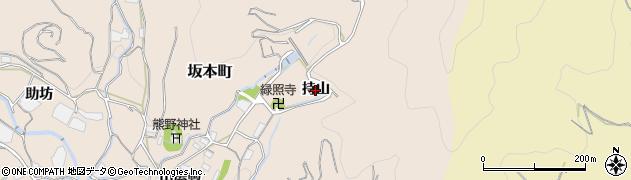 愛知県蒲郡市坂本町(持山)周辺の地図