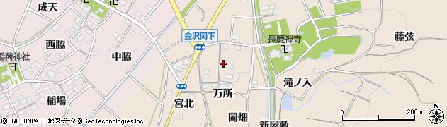 愛知県豊川市金沢町(岡畑)周辺の地図