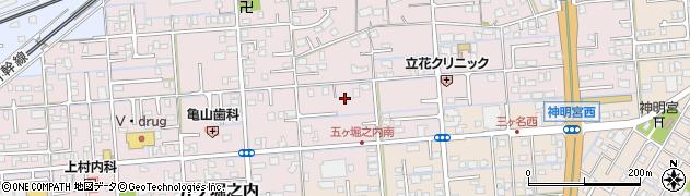 静岡県焼津市五ケ堀之内周辺の地図