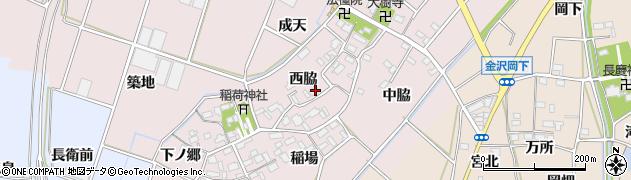 愛知県豊川市江島町(西脇)周辺の地図