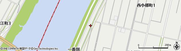 愛知県西尾市西小梛町(戌改)周辺の地図