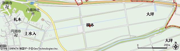 愛知県西尾市家武町(柳本)周辺の地図