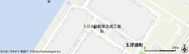 愛知県碧南市玉津浦町周辺の地図