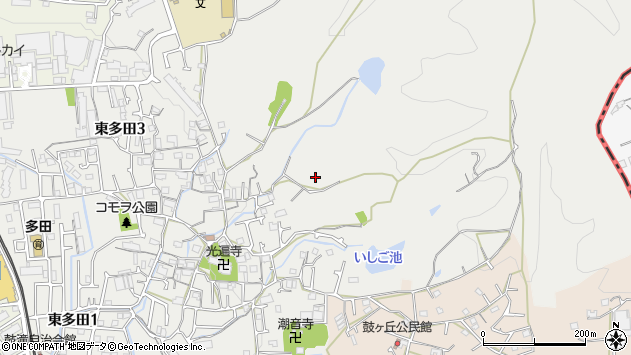 〒666-0122 兵庫県川西市東多田の地図