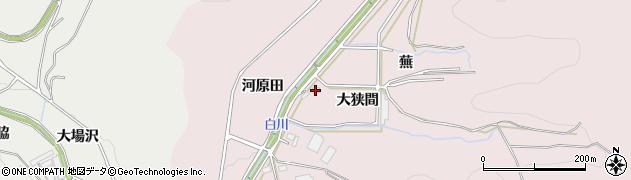愛知県豊川市財賀町(大狭間)周辺の地図