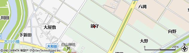 愛知県西尾市高河原町(鎮守)周辺の地図
