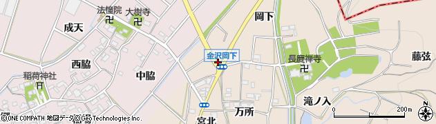 愛知県豊川市金沢町(まま上)周辺の地図