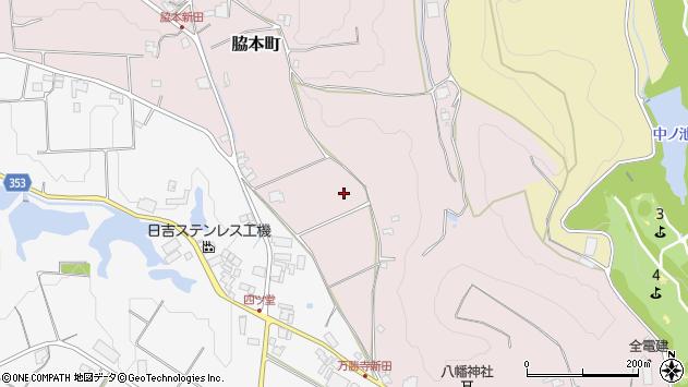 〒675-1305 兵庫県小野市脇本町の地図