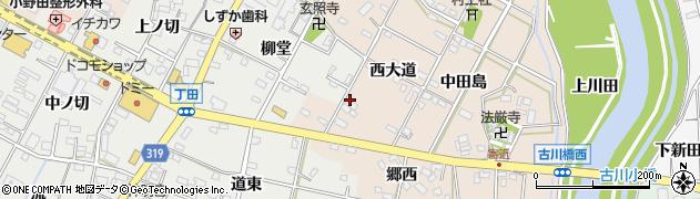 愛知県西尾市寄近町(西大道)周辺の地図