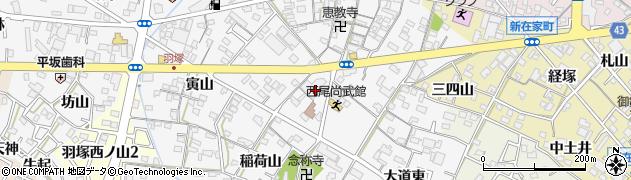 愛知県西尾市羽塚町周辺の地図