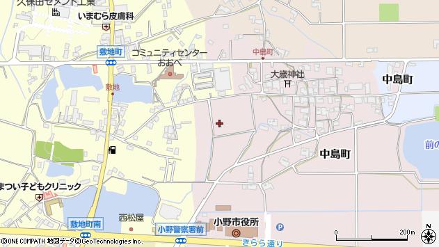 〒675-1366 兵庫県小野市中島町の地図