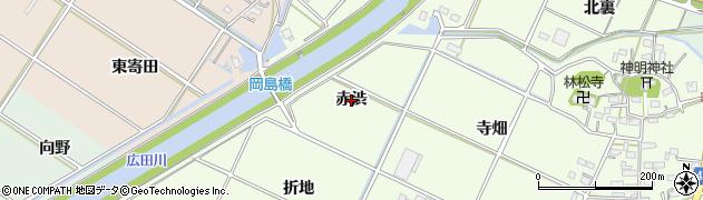 愛知県西尾市室町(赤渋)周辺の地図
