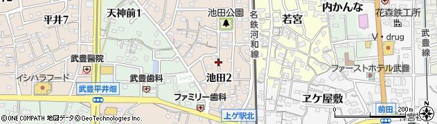 愛知県武豊町(知多郡)池田周辺の地図
