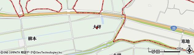 愛知県西尾市家武町(大坪)周辺の地図