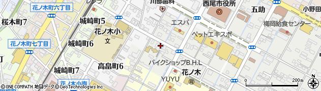 愛知県西尾市丁田町(落)周辺の地図