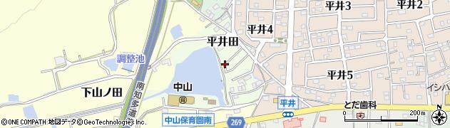 愛知県武豊町(知多郡)平井田周辺の地図