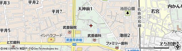 愛知県武豊町(知多郡)天神前周辺の地図