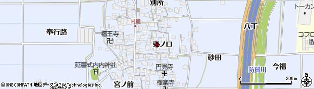 京都府八幡市内里(東ノ口)周辺の地図