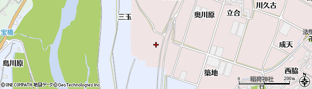 愛知県豊川市江島町(三玉)周辺の地図