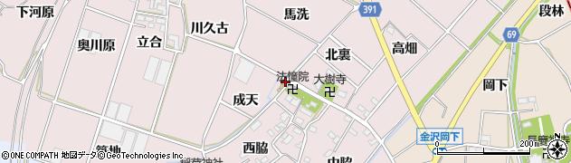愛知県豊川市江島町(成天)周辺の地図