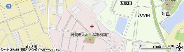 愛知県豊川市西原町(水上)周辺の地図