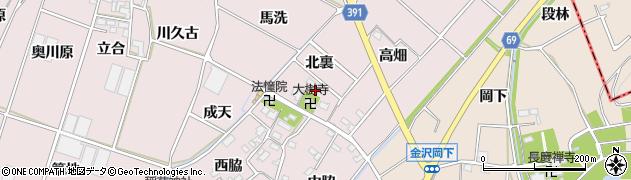 愛知県豊川市江島町(北裏)周辺の地図