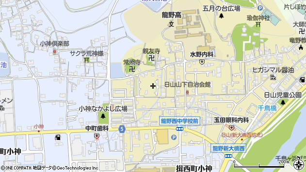 〒679-4161 兵庫県たつの市龍野町日山の地図