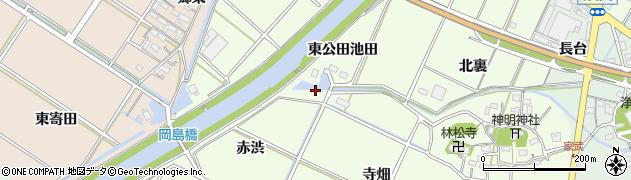 愛知県西尾市室町(井ノ下)周辺の地図
