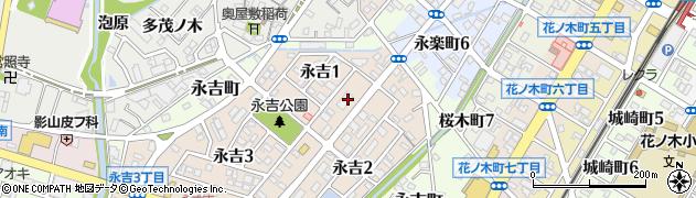 ピザアオキーズ西尾店周辺の地図