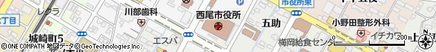 愛知県西尾市周辺の地図