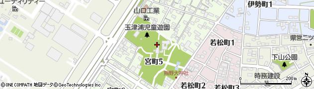 愛知県碧南市宮町周辺の地図