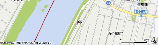 愛知県西尾市西小梛町(申改)周辺の地図