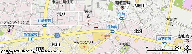 愛知県西尾市住崎町(出崎)周辺の地図